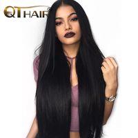 ingrosso zaini di pesca-Fasci di tessuto brasiliano capelli bundles 100% estensioni dei pacchi di capelli umani possono acquistare 3 o più QThair Non-Remy