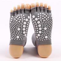 corea suda al por mayor-Calcetines de yoga para señora expuestos punta hueca sudor tubo transpirable calcetines de algodón de alta calidad Japón y Corea del Sur mujeres yoga