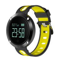 лучшие умные часы оптовых-Smart Watches DM58 Waterproof Heart Rate Monitor Pedometer Big Battery Blood Pressure Relogio Best Price Watch