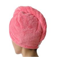 toalha de cabelo seco e rápido venda por atacado-Mulheres banheiro super absorvente de secagem rápida de microfibra bath towel cabelo seco cap salão de toalha 25x65 cm frete grátis