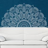 ingrosso adesivo a muro di mandala-Nuovo arrivo Namaste Mandala Yoga Lotus Meditazione India Buddha Dio OM Symnol Wall Sticker Vinyl Interio Camera da letto Home Decor
