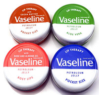 Wholesale lip therapy for sale - 2018 Hot Makeup brand Vaseline Lip therapy cocoa butter for soft glowing rosy lips Hydrating Petroleum jelly moisturizing Lip balm lip cream