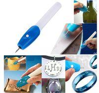Wholesale graver tools online - High Quality Mini Engraving Pen Electric Carving Pen Machine Graver Tool Engraver Steel Jewellery Engraver Pen Kit