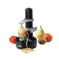Wholesale apple potato slicer resale online - New Electric spiral Apple Peeler Cutter Slicer Fruit Potato Peeling Automatic Battery Operated Machine with charger eu plug
