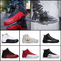Wholesale canvas shoes wings - AAA+ 2018 Mens Basketball Shoes 12 12s CNY WINGS TAXI Playoff Black Flu Game Cherry 12s XII Men Sport Sneakers EUR 41-47