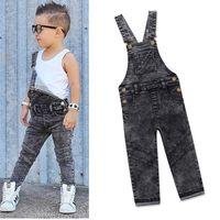 Wholesale cute boys jeans resale online - Boys Bib Jeans Child Jumpsuit Jean Overalls Cute Letter Denim Infant Boy Children s Clothing Pants Bodysuit Years