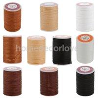 weiße bronze schmuck großhandel-Leder Handwerk Handwerk Nähen Runde gewachsten String Thread 0,55 mm Weiß DIY Schmuck machen