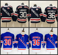 Wholesale new york ranger youth hockey jerseys resale online - Youth kids New York Rangers Henrik Lundqvist Mats Zuccarello hockey Jerseys stitched
