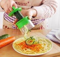Wholesale Vegetable Spiralizer - 2017 Vegetable Handheld Spiralizer Slicer Cutter Graters Hand Held Noodles Spaghetti Pasta Maker Kitchen Tools Vegetable Slicer