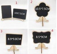 владельцы свадебных имен оптовых-деревянные мини-доске место карты держатели свадьба имя карты с мольберт стенд для свадьбы День Рождения C206