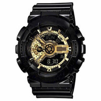 relojes de cuarzo al por mayor-2018 nueva llegada de moda para hombre estilo G Relojes de pulsera multifuncionales LED Digital Shock Quartz Sport Watches para hombre hombre estudiantes Reloj