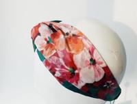 flores de aves al por mayor-Diseñador 100% seda cruz diadema marca de lujo caliente bandas elásticos del pelo bufanda para mujer niña Retro Floral pájaro Turbante Headwraps regalos