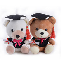 Wholesale Graduation Plush Toys - Stuffed Plush Animals Cute Soft Toys Senior Year Bears Kids Room Decoration Graduation Present Baby Doll Toy