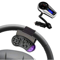 Wholesale Steering Wheel Mp3 Player - Bluetooth Car MP3 Player Wireless FM Transmitter FM Modulator Audio Hands-free Charger For Android Phone Steering Wheel Control