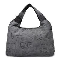 Wholesale new handbag trends for sale - Group buy Retro Portable Letters Printed Storage Bag Trend Women High Capacity Zipper Handbag New Style Multi Layers Fashion Bags hj Ww