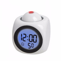 1437ceb6cce Multi-Function Projeção Relógio Falando LED Projeção Colorida Alarme Voice  Clock Digital Tempo E Temperatura Display