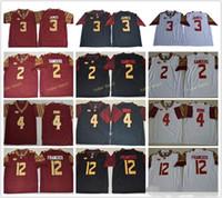 Wholesale fsu jersey - 2018 Florida State Seminoles 3 Derwin James 4 Dalvin Cook 5 Jameis Winston 2 Deion Sanders 12 Deondre Francois FSU College Football Jersey