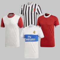 Wholesale icon shorts - 2018 Real Madrid Icon Jersey Retro trend Commemorative Man RONALDO DYBALA Muller Robben LUKAKU POGBA United Collection Icon football Shirt