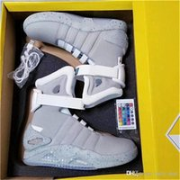Wholesale Shoes Luminous - Air Mag Best Quality Brand Limited Edition Back To The Future Soldier Shoes LED Luminous Men Shoes 2018 Fashion Led shoes With Original box