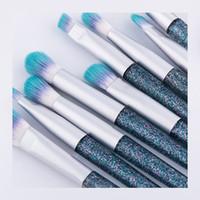 makyaj fırçaları fabrikası toptan satış-Toptan Glitter Göz Makyaj Fırçalar Set 10-Pieces, Fabrika Doğrudan Satış Göz Farı Sentetik Saç Organizatör Çanta Ile