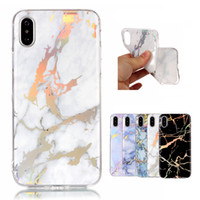 Wholesale shock proof cases - Marble TPU Case Slim Anti-Scratch Shock-Proof Luxury Silicone Soft Rubber Protective Cover for iPhone 6 7 8 X Samsung S9 S8 Huawei P9LITE