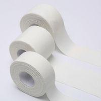 envoltura de cinturón reflectante al por mayor-Deportes Equipo de Protección 2.5cmx10m Atlética cinta de tela blanca Deportes cinta dedos polainas vendaje Cotton Patch Deporte