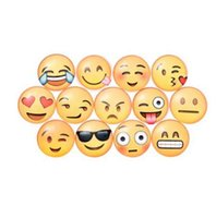 примечание 13 оптовых-13 шт. / лот рождественские украшения стекло круглый прекрасный Emoji лицо эмоции холодильник стикер холодильник Магнит отмечает сообщение держатель