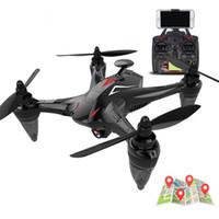 mini helikopter kamera toptan satış-5G GW198 Fırçasız Yarış Drone GPS Hover Ile 400 M Drone Kamera Helikopter Radyo Kontrol Küresel Drone C4398