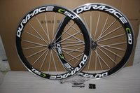 Wholesale carbon fiber alloy wheels - free shipping Dura ace c50 700c alloy bicycle wheels carbon fiber road wheelset clincher 50mm depth light weight powerway R36 hub