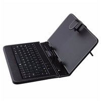 leder usb china großhandel-10,1 Zoll Tablet PC Leder mit Micro USB Englisch / Russisch / Multi-Language 10,1 Zoll Tablet Keyboard Case Cover Stand Case