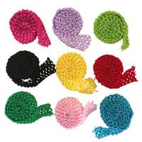 "1.5"" Crochet Elastic Tutu Waistband Headbands Band Trim Rolls by Meters For Tutu Dress Skirts"