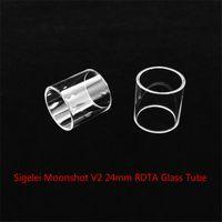 24mm rohr großhandel-Großhandel Sigelei Moonshot V2 24mm RDTA-Behälter-Ersatzglasrohr mit Dhl-freiem Verschiffen kaufen billiges Moonshot V2 24mm RDTA-Behälterglasrohr