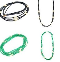 Wholesale fancy long chain resale online - NEW Natural Black Spinels Green stone mm Nearround Freshwater Pearl sterling silver Gold Clasp Long Fancy Necklace quot