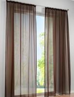 ingrosso filato nero blu-2PCS Concise tedesco alta densità Terylene Yarn Window Curtain Pannelli trasparenti di buona qualità