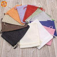Wholesale natural jute bags for sale - Group buy 10PCS CM Natural Colorful Jute Bag Burlap Drawstring For Home Wedding Decoration Candy Gift Beads Jewelry Bags Supplies