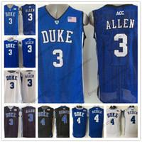 Wholesale duke blue - NCAA Duke Blue Devils #3 Grayson Allen 4 JJ Redick 0 Jayson Tatum royal white round collar Stitched College Basketball Bagley Jerseys S-3XL