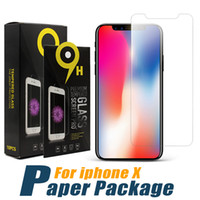 Wholesale screen for sale - For iPhone XS MAX Galaxy A6 Screen Protector H Hardness Tempered Glass For iPhone XS XR Protector Film Moto E5 in Box