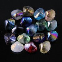 Wholesale natural stone shell jewelry - Wholesales 8pcs lot 16 Colors Crystal Shell Loose Beads DIY Jewelry Craft Suplies Arts and Crafts Home Room Decor
