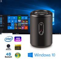 ingrosso telecamera a doppio telecomando-1 pezzo G2 Pro Windows 10 sistema TV Box 2 GB / 4 GB 32 GB / 64 GB con fotocamera 2.0 MP 5 GHz dual-band Wifi bluetooth4.0