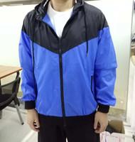 athletic clothing großhandel-MENS Athletic Jacken Marke Kleidung für Männer Windbreaker Jacke Dünne Schlanke Frühling Sommer Sport Tragen Lässige Mäntel
