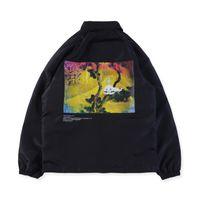 chaqueta de fantasmas al por mayor-2018 Europe America Star KANYE WEST KIDS VER GHOSTS Album Yeezus Tour Chaqueta de calle Street Monopatín Coat Jacket