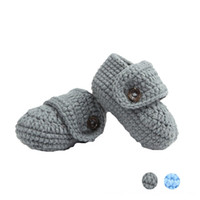 Wholesale baby slipper crochet - children footwear Booties shoes for girls kids First shoes slippers Crib Crochet Casual Baby Handmade Knit Sock Infant