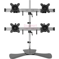 Wholesale head monitors for sale - 4 Screen Desktop Quad Heavy Monitor Mount Display desktop Stand Arm LCD Stand Fit for quot quot Max Support KG each head