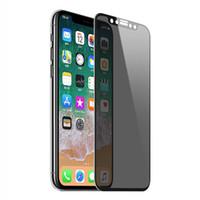 iphone gizlilik ekran kapağı toptan satış-Yeni güvenli gizlilik temperli cam iphone xs max için tam kapak iphone xr xs xs max için gizlilik ekran koruyucu film