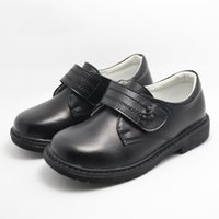 meninas sapatos de couro genuíno escola venda por atacado-Sapatas das meninas crianças Sapatos de couro Genuíno Crianças partido 2018 Meninos Meninas vestido de escola Sapatos para Crianças preto Casual sneakers