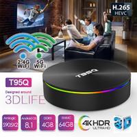 Wholesale best amlogic android tv box online - Android tv box suppliers best Amlogic S905X2 android player tv box T95Q GB GB GB GB G AC WiFi BT4 android tv box online
