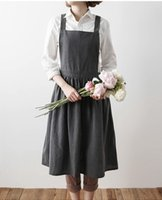 Waist Gardening Apron   2017 New Aprons Simple Washed Cotton Uniform Unisex  Adult Aprons For Woman