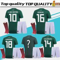 Wholesale g sock - 2018 World Cup Mexico adult kit+socks Soccer Jersey National Team CHICHARITO GUARDADO HERRERA 18 19 G . DOS SANTOS Football shirt