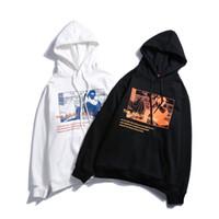 Wholesale japanese style men hoodies - Japanese Ukiyo E Print Fleece Pullover Hoodies Sweatshirts Men 2018 Winter Japan Style Hip Hop Casual Hoodie Streetwear