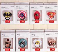супер-смартфоны оптовых-Super Hero Супермен Бэтмен Finger Ring Держатель телефона Универсальный стент 360 Grip для смартфонов планшетов Гибкая подставка Держатель с розничной коробкой